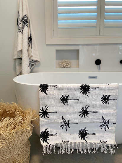 Palm Mat - Black/White