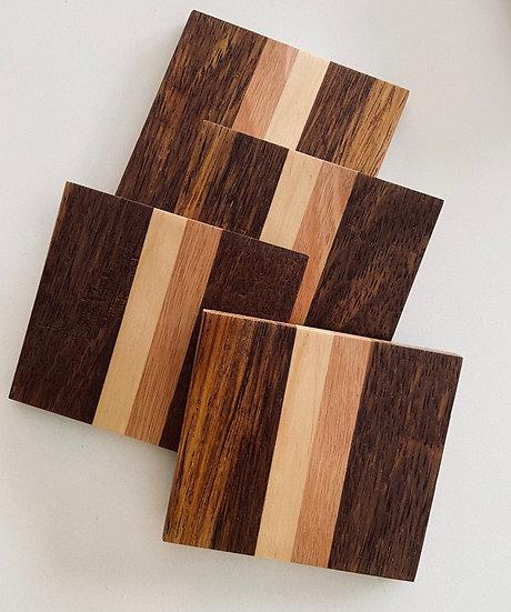 Burraneer Wood Tones Coasters - set of 4