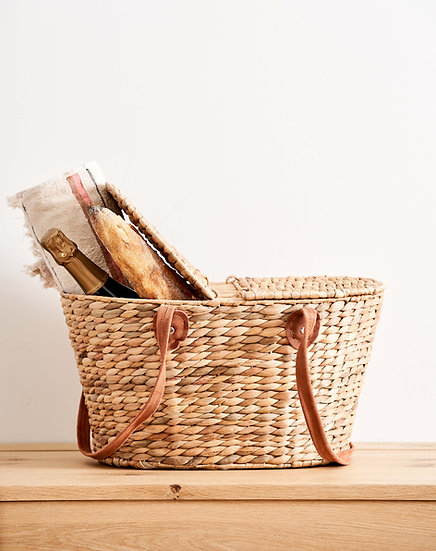 Drakes Picnic Basket with Suede Handles