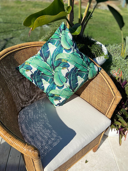 Borneo Jungle Palm Indoor cushion COVER ONLY -  (45x45cm)