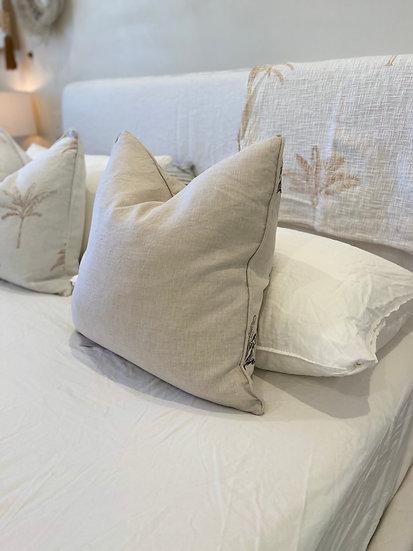Natural Linen Square Cushion