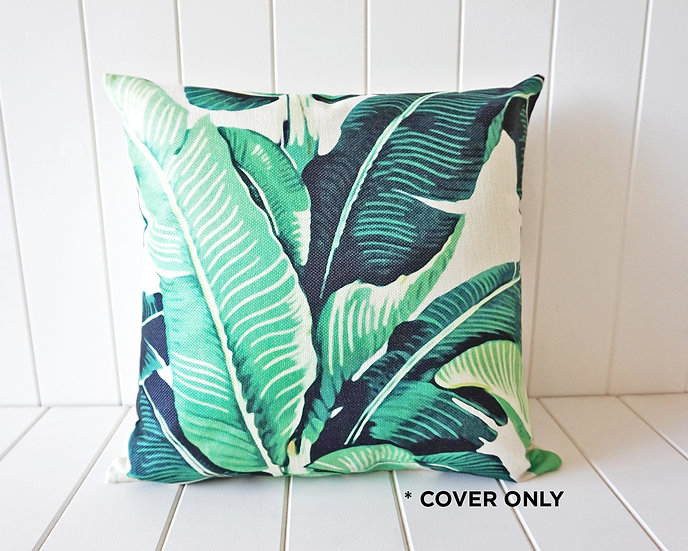 Tropical Paradise Banana Palm - Indoor cushion COVER ONLY -  (45x45cm)