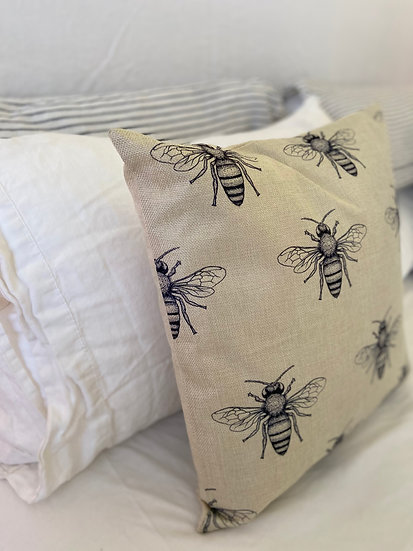 Indoor cushion COVER ONLY - Cicada pattern (45x45cm)