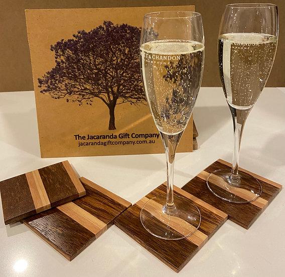 Paddington Wood Tones Coasters - set of 4