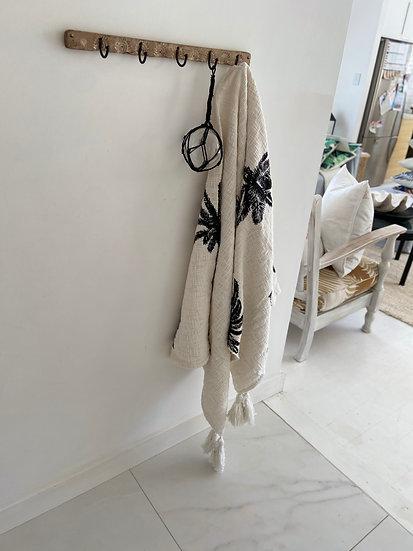 Glass Buoy -Black rope (10cm)