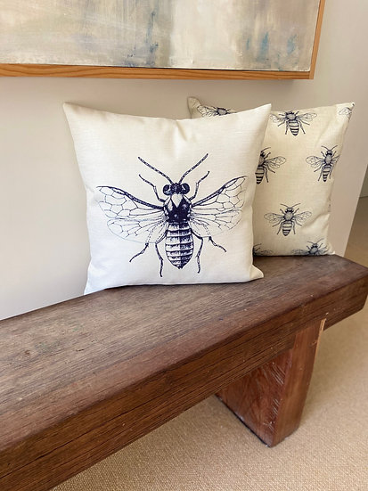 Indoor cushion COVER ONLY - Plantation Bee (45x45cm)