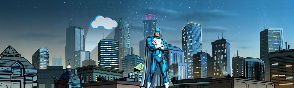 Cyber Saviour Cityscape
