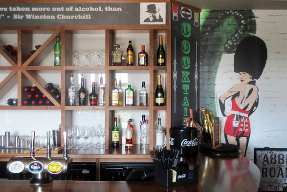 British themed bar.