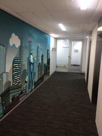InfoTrust - Hallway Mock-up