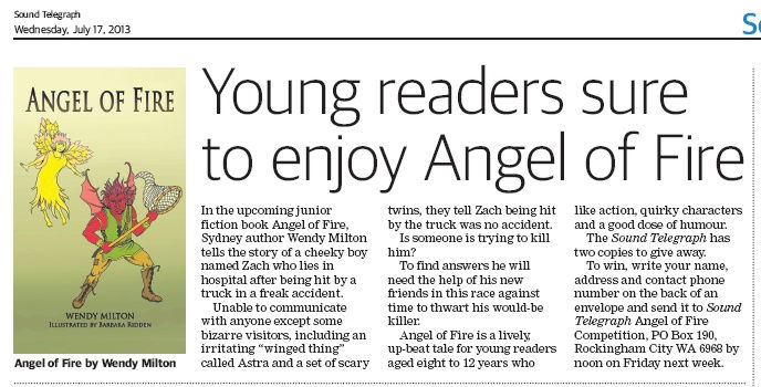 Angel of Fire clipping from Sound Telegraph, 17 July 2013