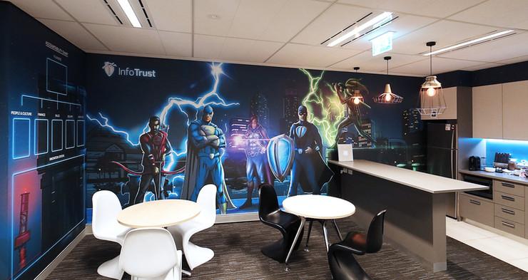 InfoTrust superhero wallpaper.