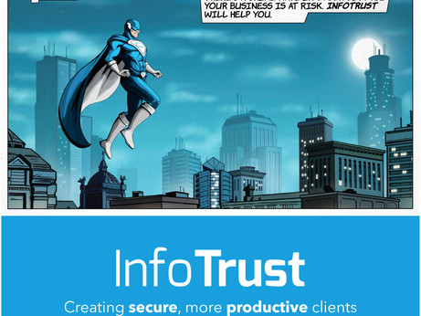 InfoTrust - Corporate conference banner artwork for Sydney IT company.