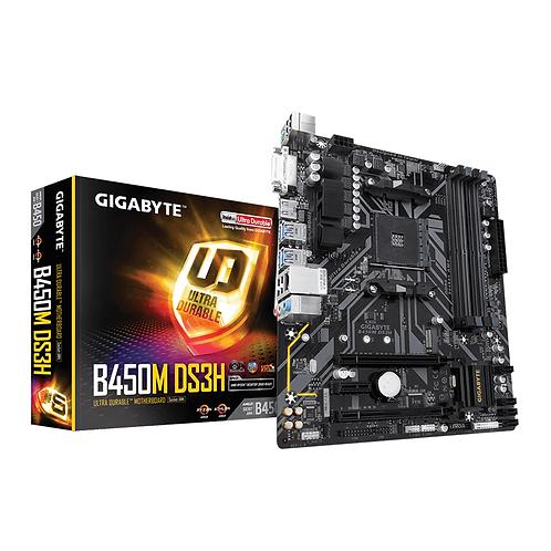 Gigabyte B450M-DS3H Socket Am4 DDR4 Motherboard