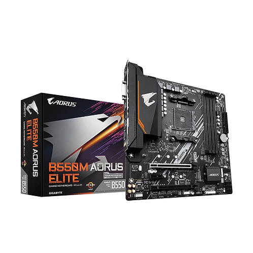 Gigabyte B550M Aorus Elite Socket Am4 DDR4 Motherboard RGB Fusion 2.0 Lightning