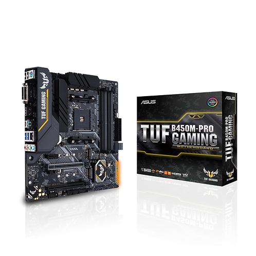 Asus Tuf B450M-PRO GAMING Socket Am4 DDR4 Motherboard Aura Sync RGB Lightning
