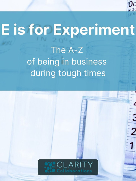 E is for Experiment
