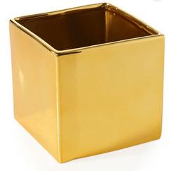 Gold Square Vase
