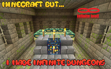 Minecraft but... i made infinite dungeons!