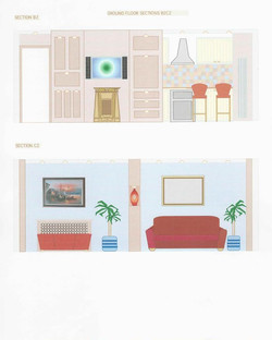 Living Room Elevations For Client