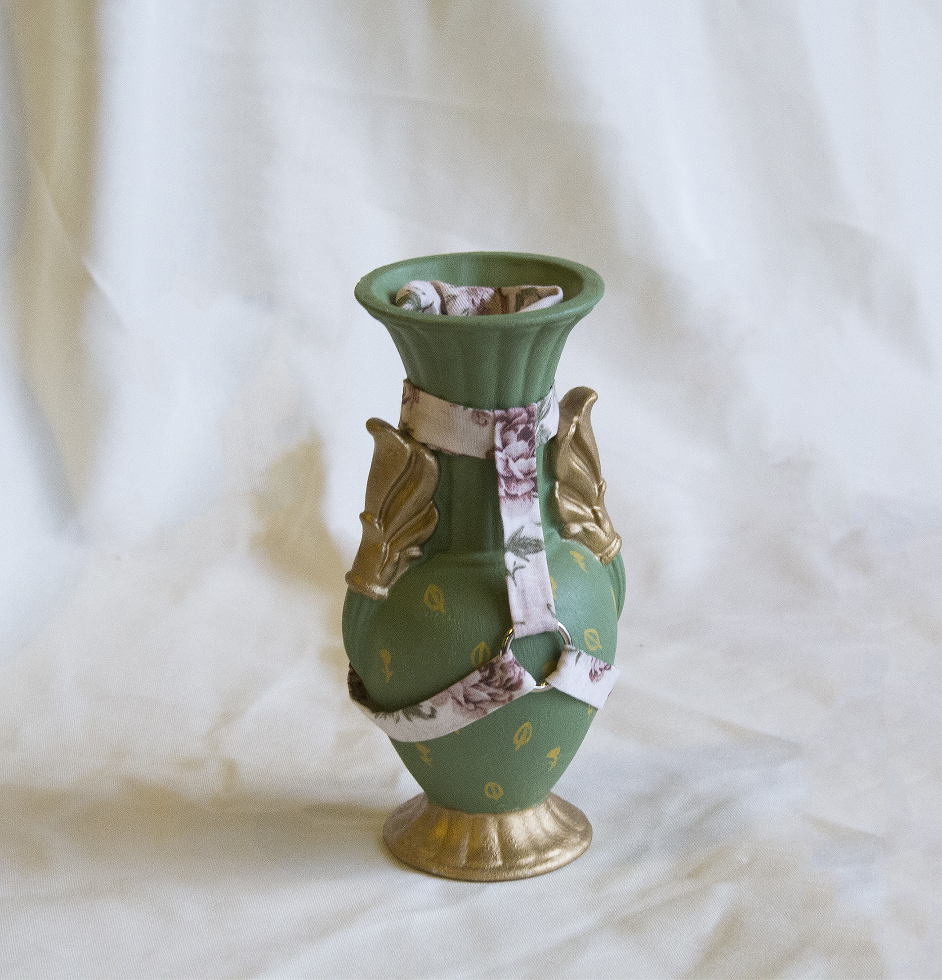 Green Harness Vase