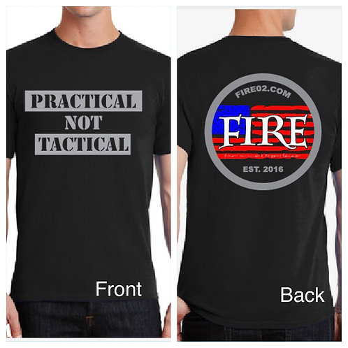 "Black ""Practical NOT Tactical"" Shirt"