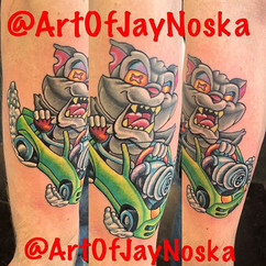 Checkout this sweet rat fink inspired ca