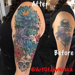 Here's another sweet cover up/ redo/ add