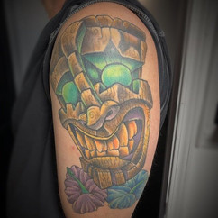 Just got to see this sweet tiki I did al