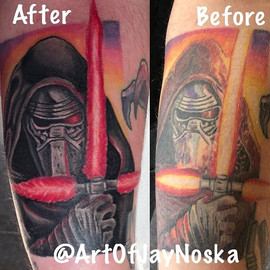 Started this redo of Kylo Ren and eventu