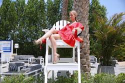 UpBeach Chloe Tunic Red