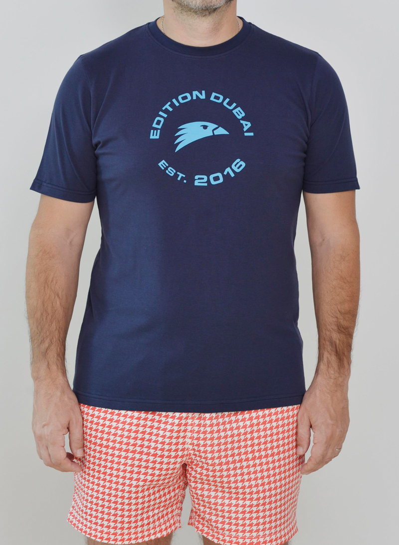 Editions Dubai Falcon T Shirt and Ghutra Red Short