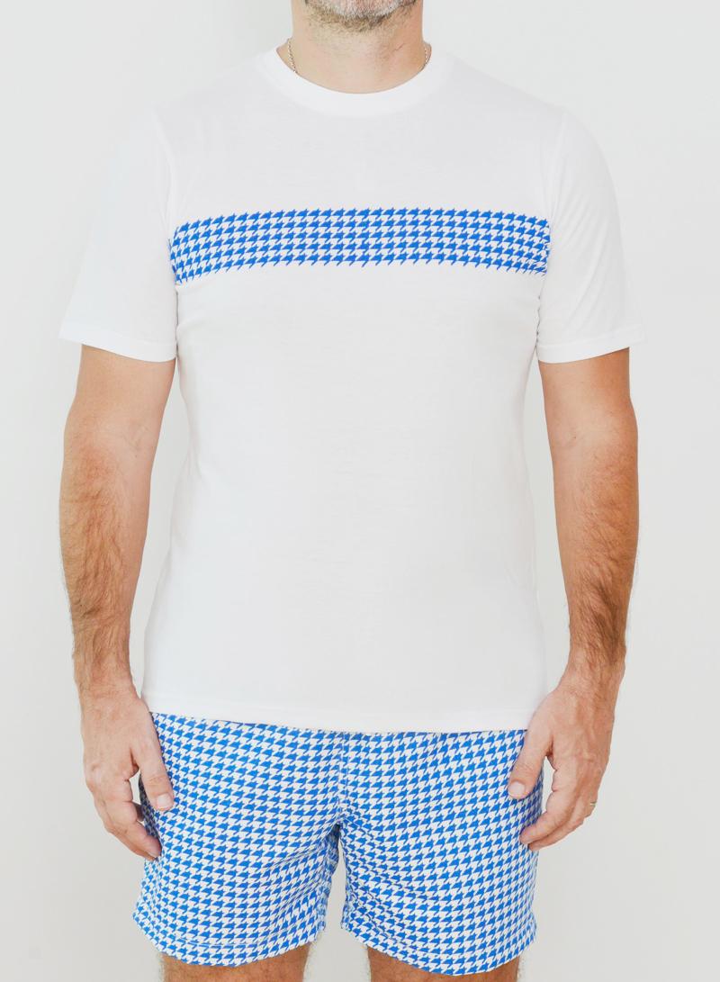 Editions Dubai Ghutra Blue T Shirt and Ghutra Blue Short