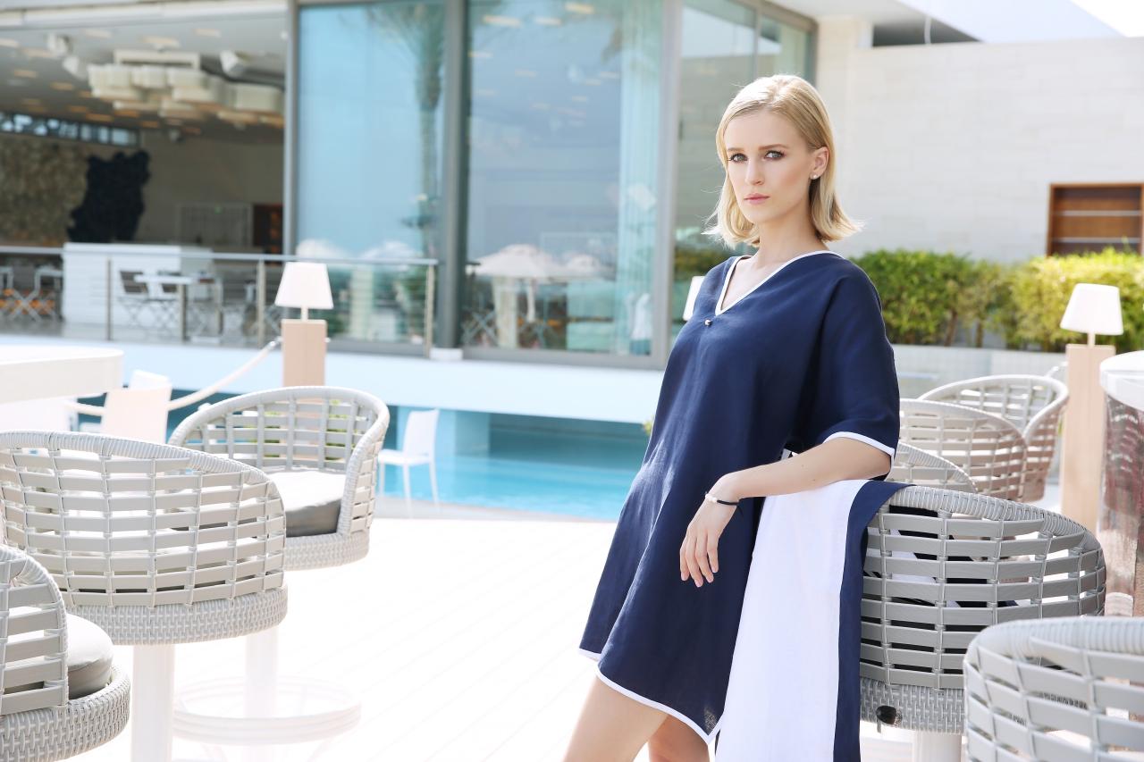 UpBeach Monica Dress Nvay Blue