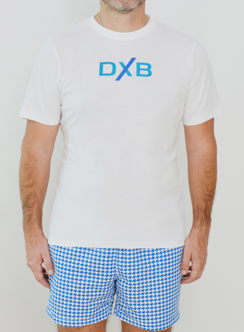 Editions Dubai DXB T Shirt and Ghutra Blue Short
