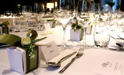 elegant favors table setting