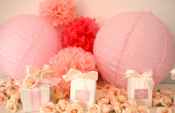 pink theme party favors