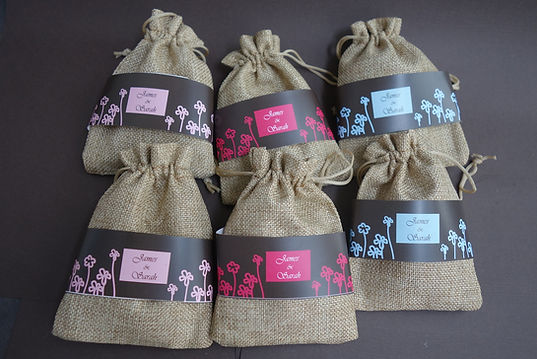 mini sacks of tea
