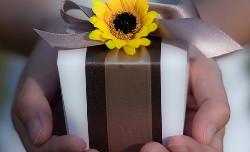 flower wedding favor box