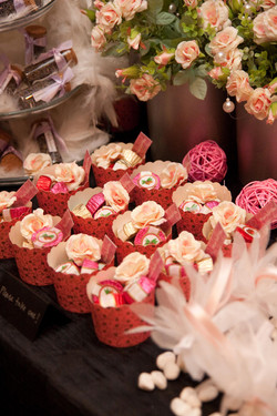 candies in cupcake cups
