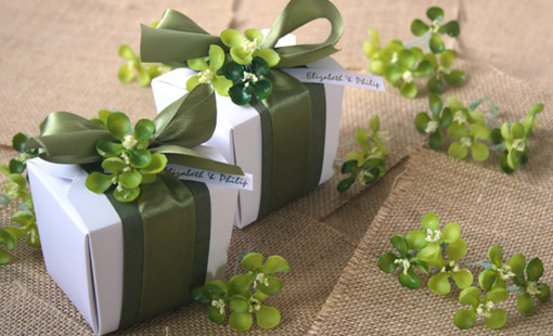 garden theme wedding favor boxes