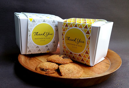 cookie box favors