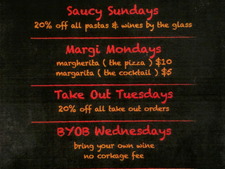 Weekly Specials Starting Sunday Oct 30th