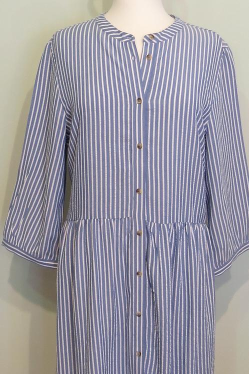 Kleid Searsucker Stripedress