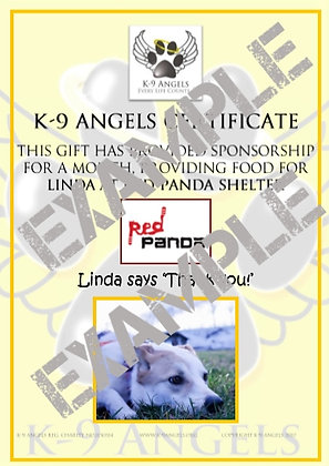 SPONSOR LINDA AT RED PANDA (ONE MONTH FOOD SUPPLY)
