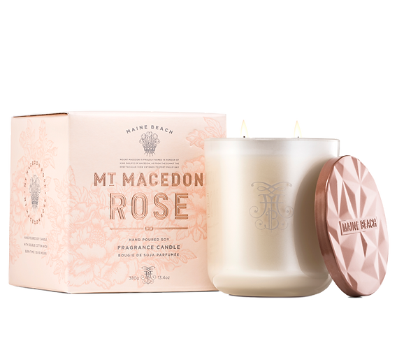 Mt Macedon Rose Soy Candle 380g