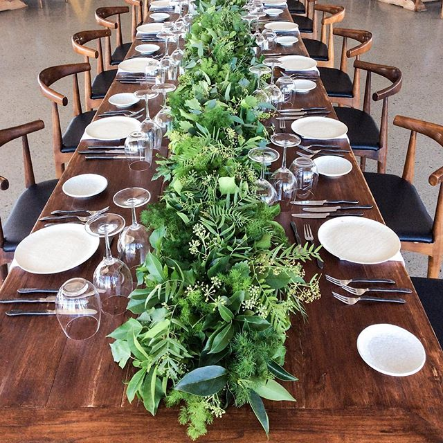 Wedding table greenery #canberraflorist