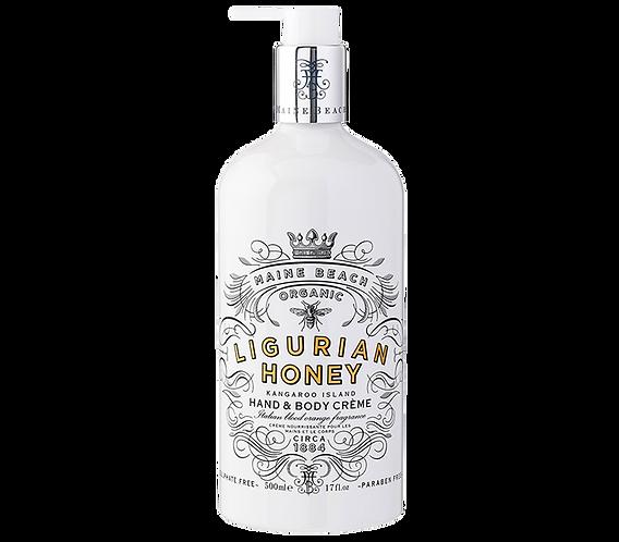 Organic Ligurian Honey Hand & Body Crème 500ml