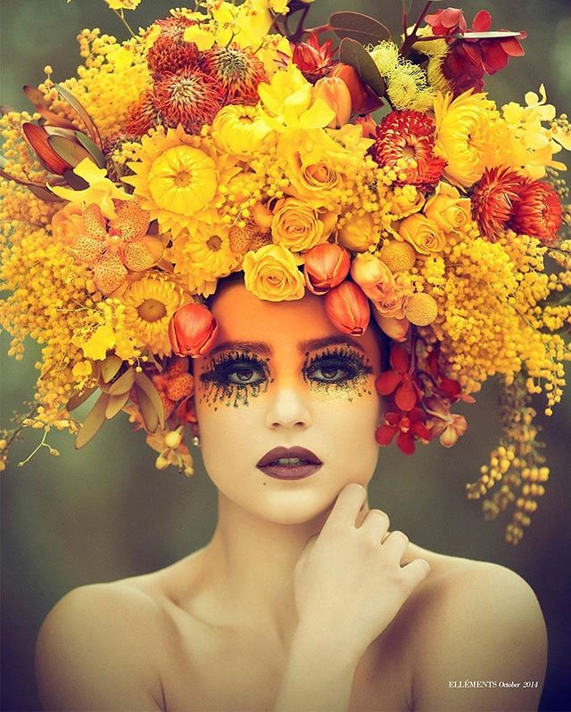 Photography by Robert Coppa, Model Djana, Flowers, Make up by Dave _robert