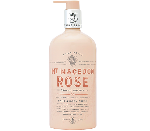 Mt Macedon Rose Hand & Body Crème 500ml