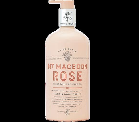 Mt Macedon Rose Hand & Body Crème 500ml